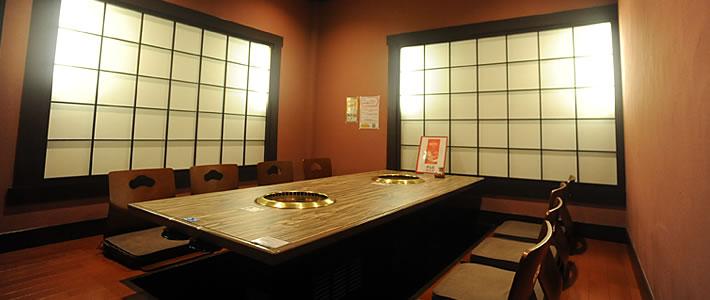 個室(8名様までご利用可能)